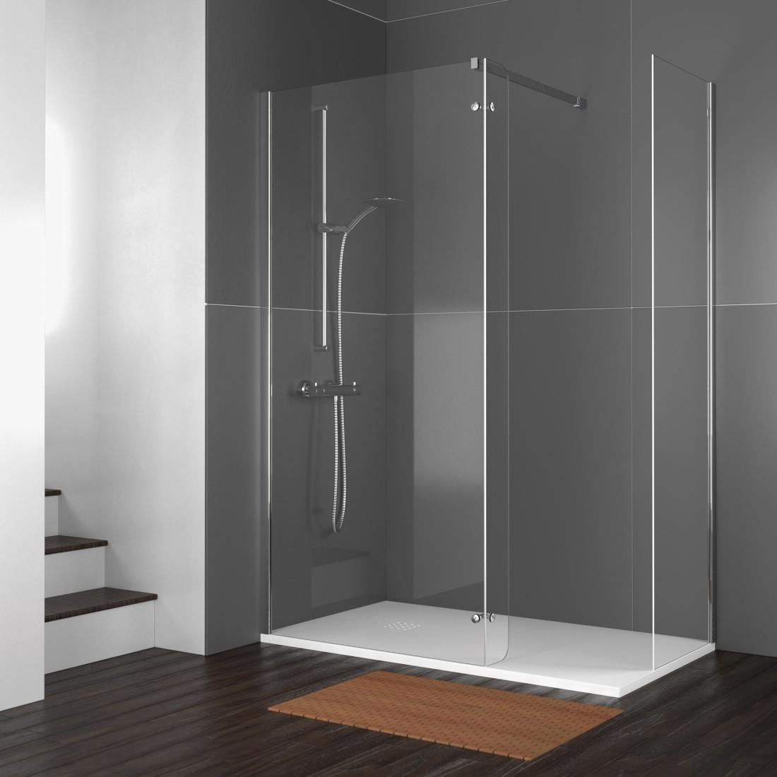 Aluminios roman carpinteria de aluminio - Mamparas de bano fijas ...